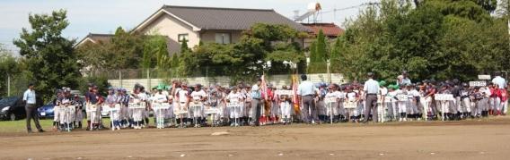 2018/09/09 国分寺市秋季大会の開会式が行われました。